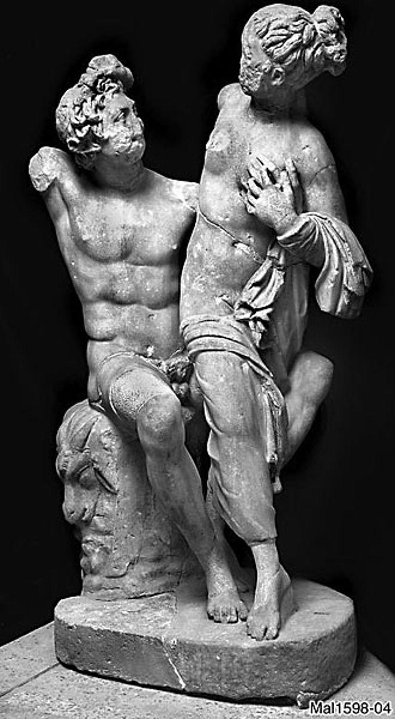 """Rom, Thermenmuseum. Satyr-Mänaden-Gruppe """"Ludovisi"""". (Foto: B. Malter Mal1598-04)"""