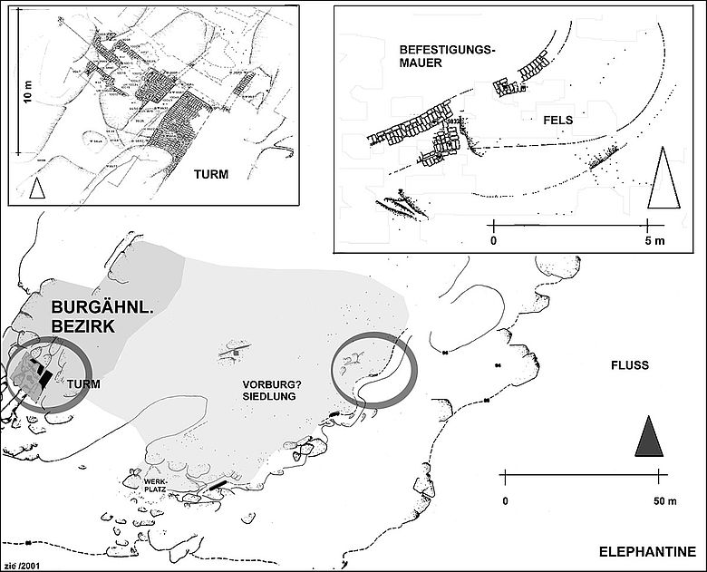 Burgähnlicher Bezirk in Elephantine