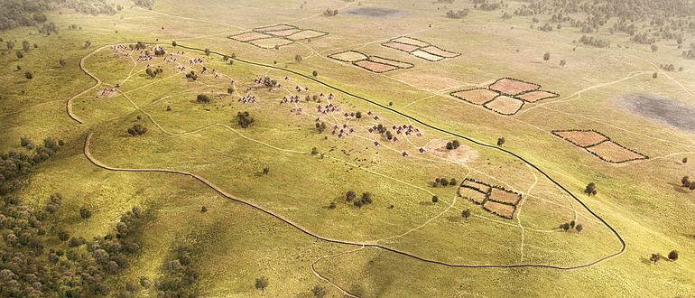 Neolithische Siedlung auf dem Kapellenberg (Rekonstruktion)