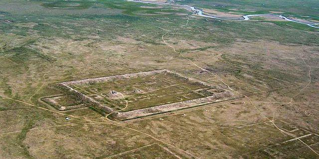 Die sog. Palast- oder Tempelstadt von Karabalgasun