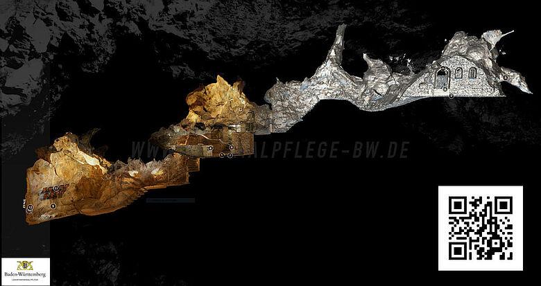 3D-Modell Burghöhle Dietfurt
