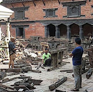 Harishankara-Tempel nach dem Erdbeben