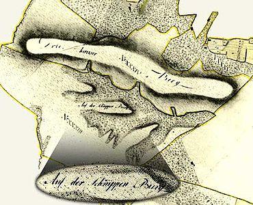 Ausschnitt aus der Karte von DuPlat 1786/87 (Bild: S. Möllers)