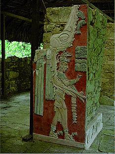 Viele gelbe Pigmente in Maya-Kunstwerken bestehen aus Indigo-Verbindungen (© Wiley-VCH)