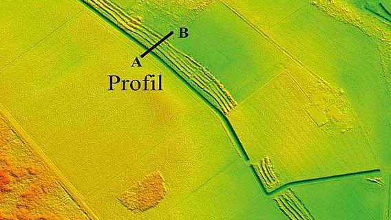 Landwher im Digitalen Geländemodell