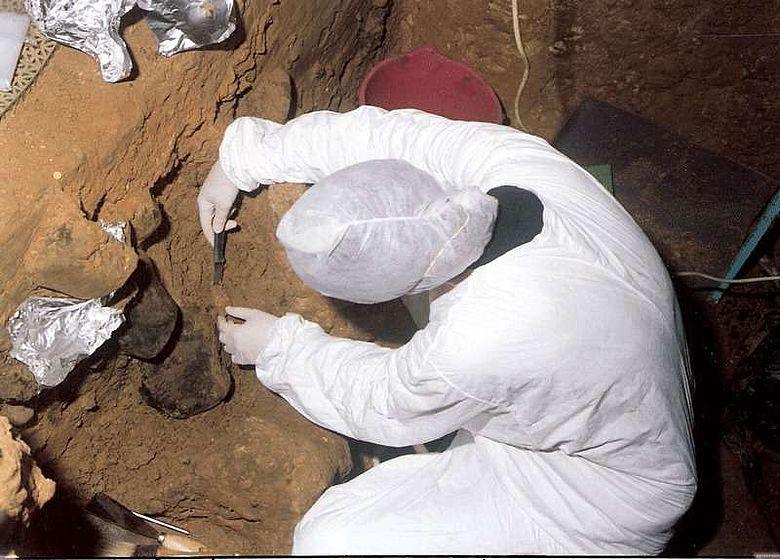 Auch in der Höhle El Sidrón in Spanien haben Forscher DNA-Spuren im Boden gefunden