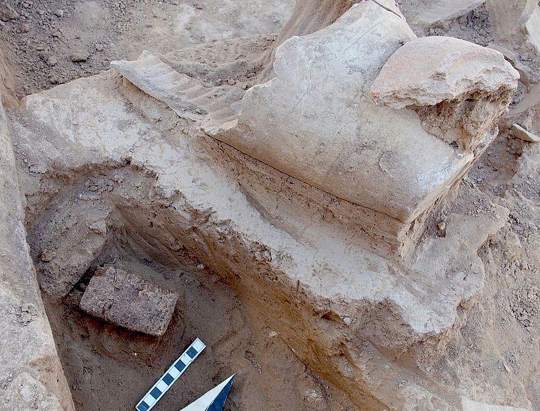 Keilschrifttafel im assyrischen Gouverneurspalast