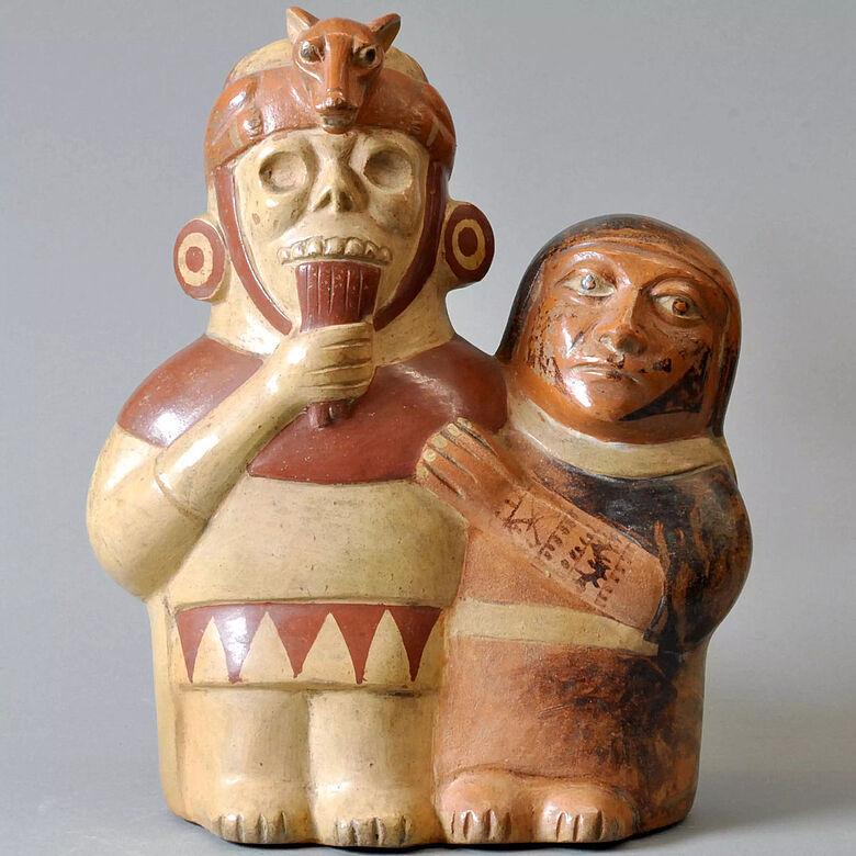 Moche-Keramik Panflötenspieler