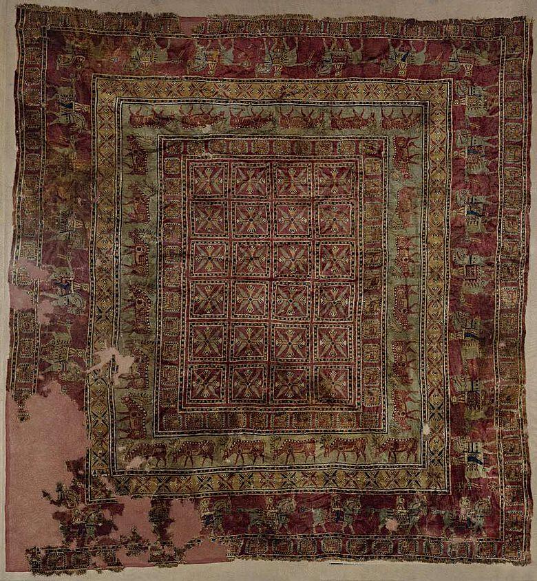Der berühmte Pazyryk-Teppich