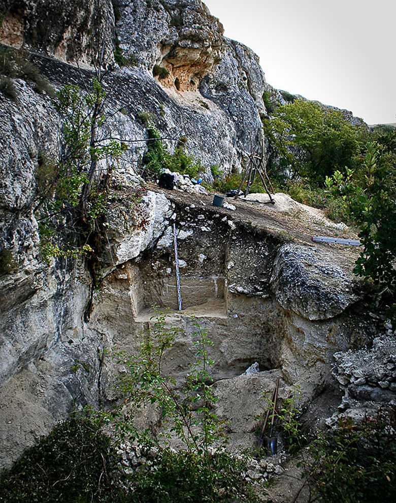 Fundstelle am Ak-Kaya-Massiv