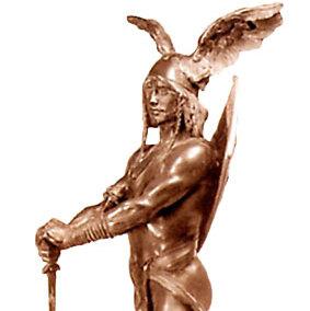 Rudolf Maison: Siegfried-Skulptur, 1897. Bronze. (Aachen, Suermondt Museum)