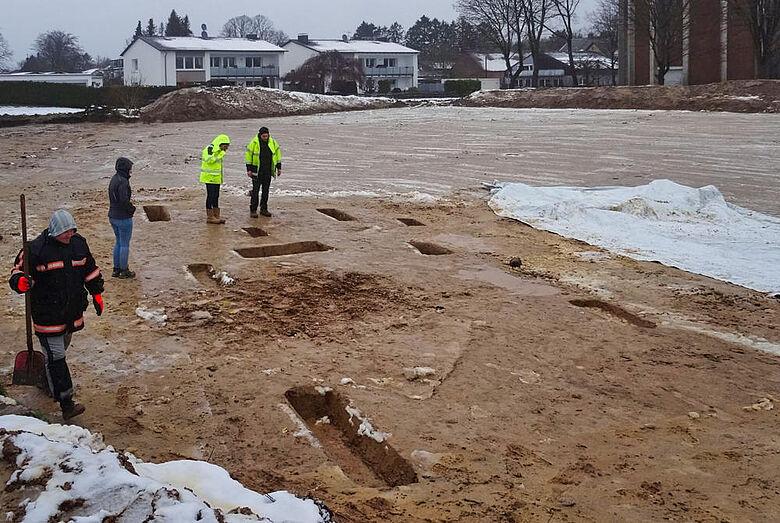 Ausgrabung im Winter