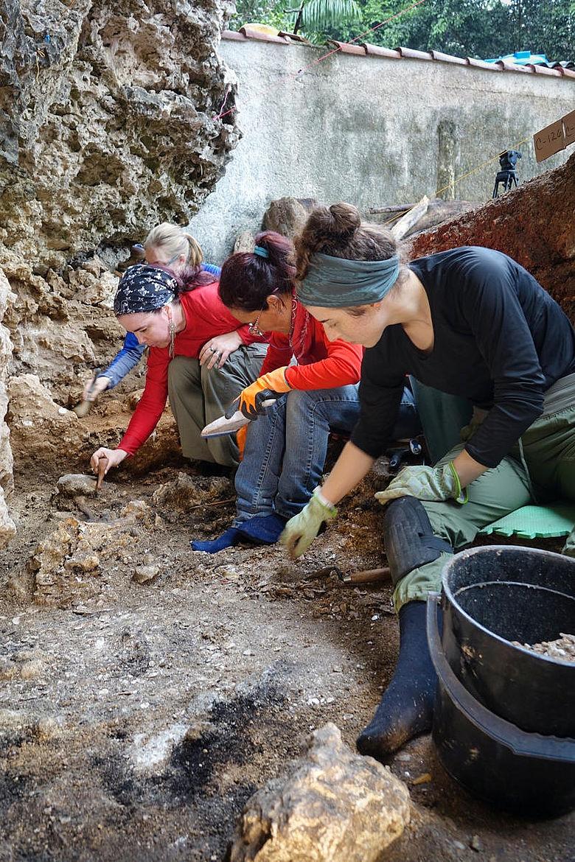 Ausgrabungen bei Canimar Abajo