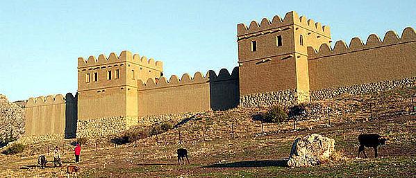 Ein Stück Stadtmauer in Hattuša