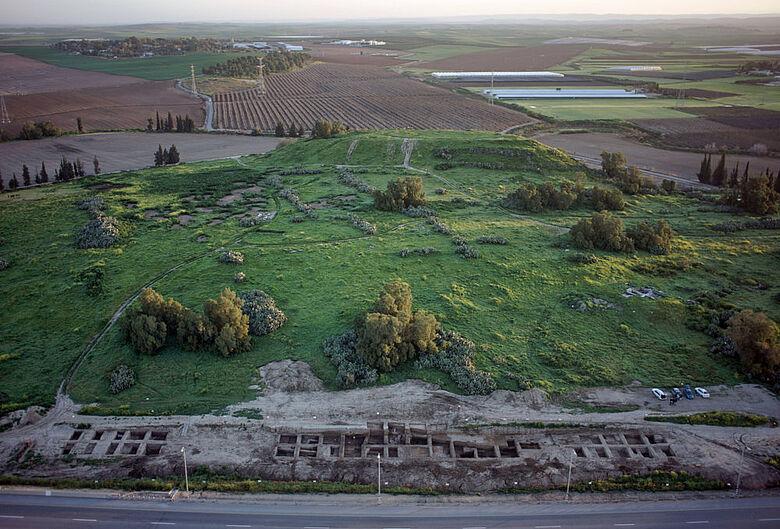 Ausgrabung im Gräberfeld Tel Erani