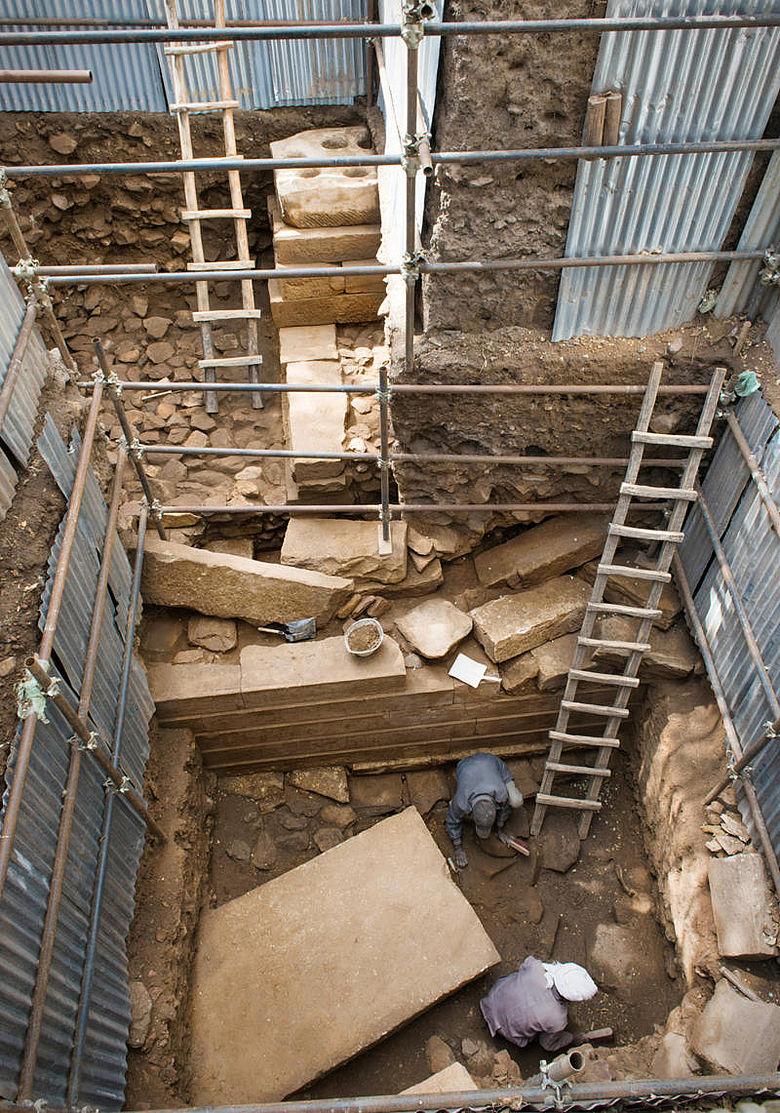 Ausgrabung Monumentalbau Yeha 2019