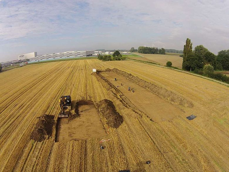 Grabungsflächen westlich des Osterbönenener Weges