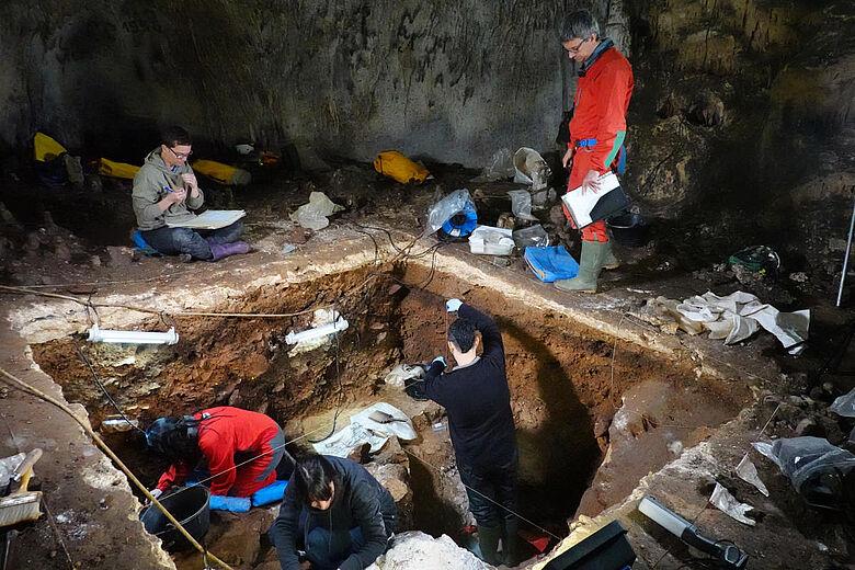 Höhlengrabung in Spanien