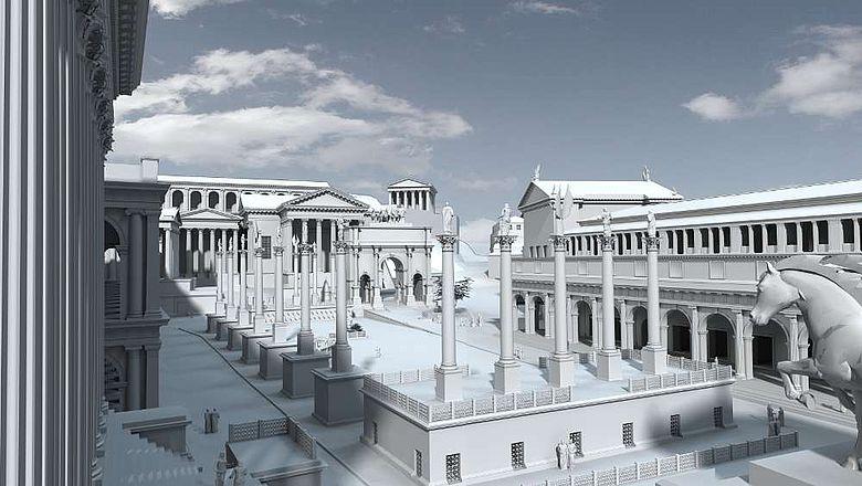 Das Forum Romanum um 310 n. Chr.