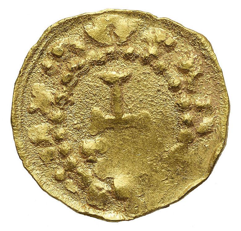 Frühmittelalterliche Goldmünze