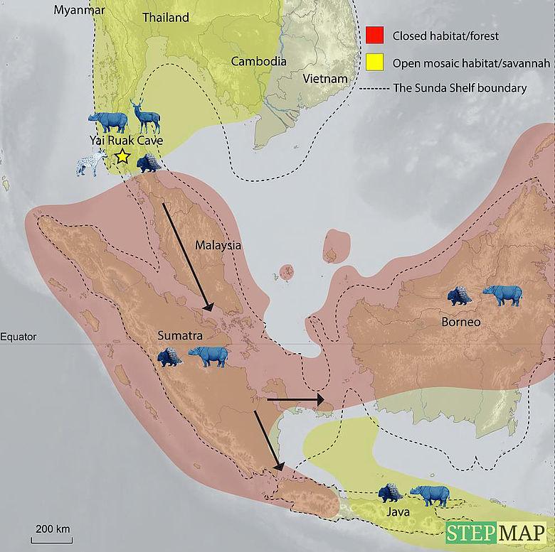 Karte: Savannenkorridor Südostasien