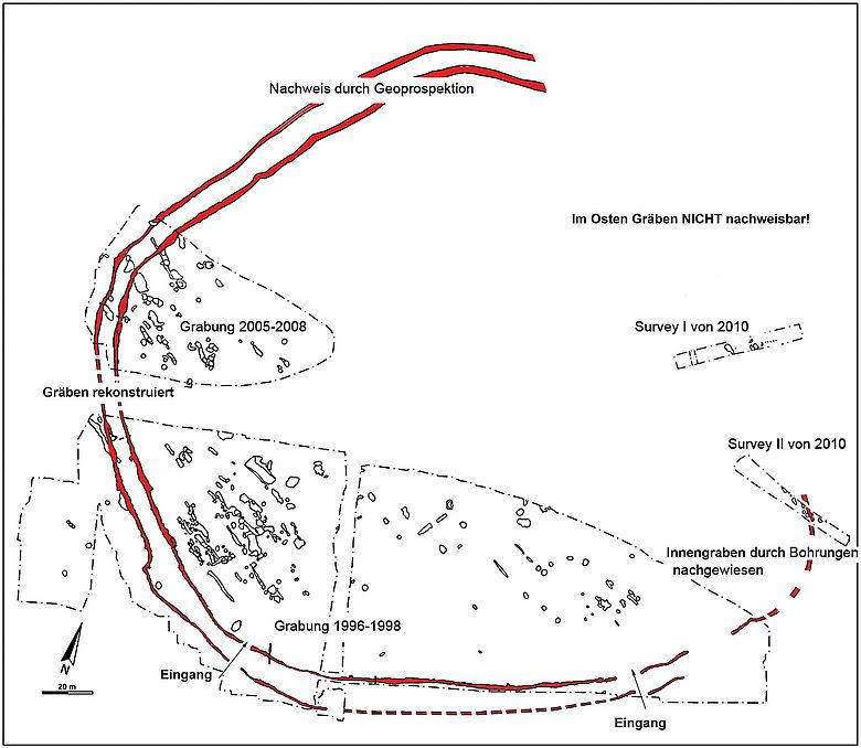 Herxheim: Gesamtplan der Ausgrabungen