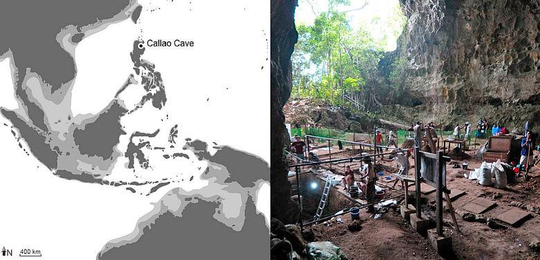Fundort der neu entdeckten menschlichen Fossilien