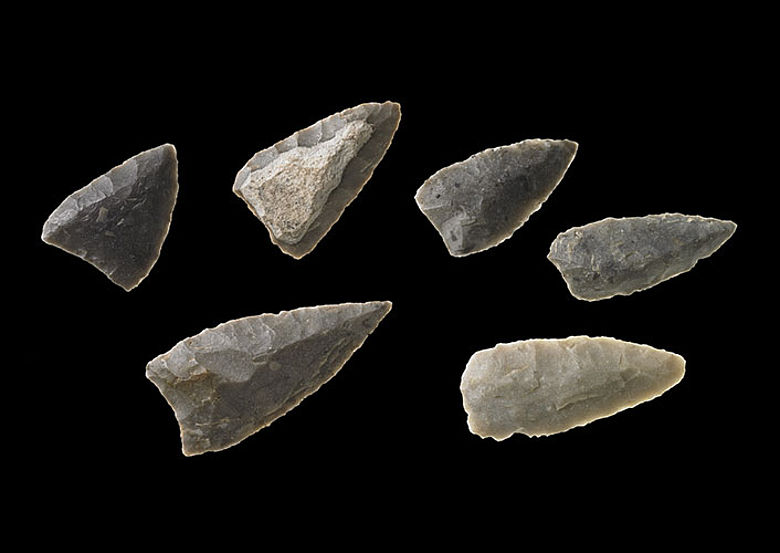 Neolithische Pfeilspitzen