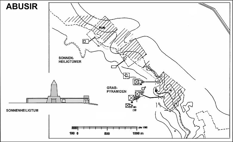 Grabpyramiden und Sonnenheiligtümer der 5. Dynastie