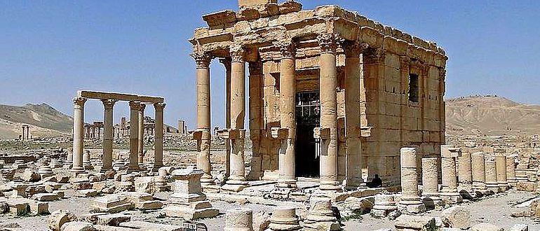 Der Baal-Shamin-Tempel von Palmyra im Jahr 2010
