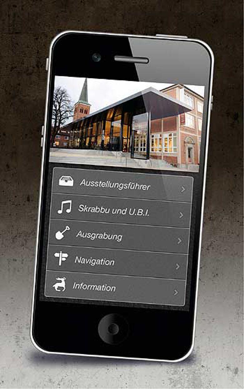 Startseite der mobilen Anwendung des Hamburger Helmsmuseums © AHM.