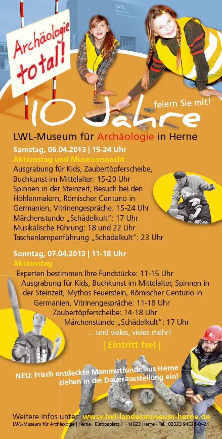 Veranstaltungsprogramm im Jubiläums-Flyer