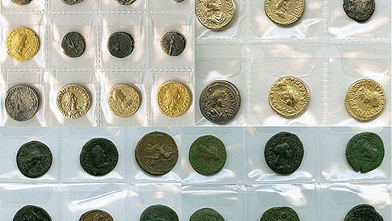 Sichergestellte antike Münzen