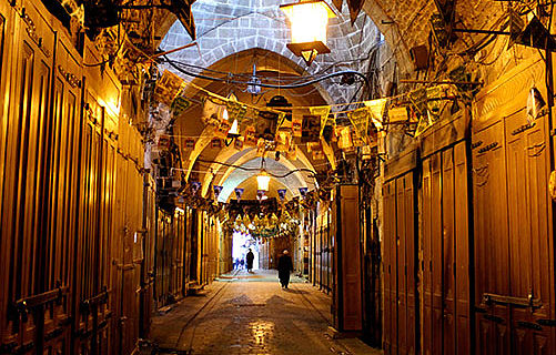 Old suq in Aleppo