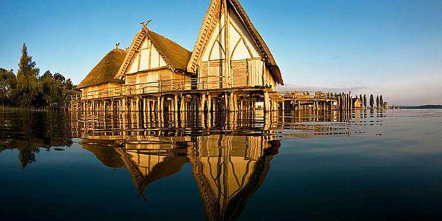Das Pfahlbaumuseum in Unteruhldingen am Bodensee