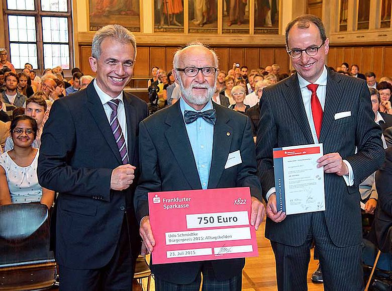 Verleihung Frankfurter Bürgerpreis an Udo Schmidtke