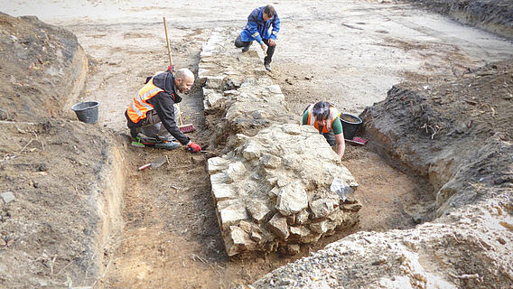 Ausgrabung der Herforder Bastion