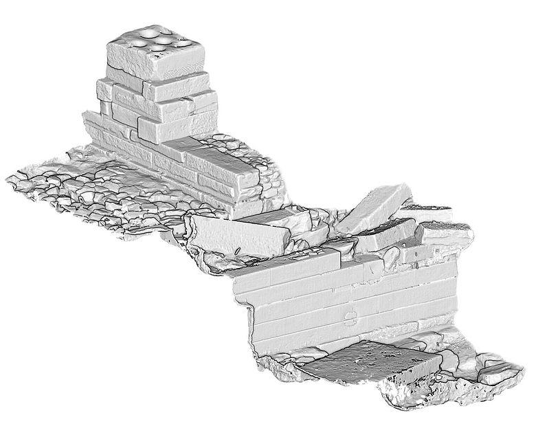 3D-Scan Heiligtum Yeha
