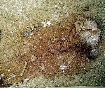 Erst im Labor der HTW Berlin wurde das Grab eines kleinen Kindes freigelegt