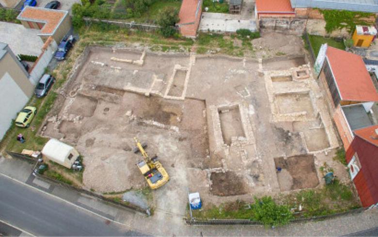 Luftbild des Grabungsareals