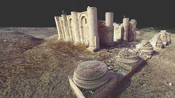 Punktwolke Gareus-Tempel