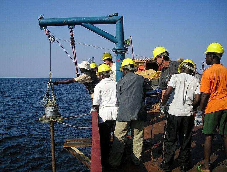 Entnahme von Sedimentproben