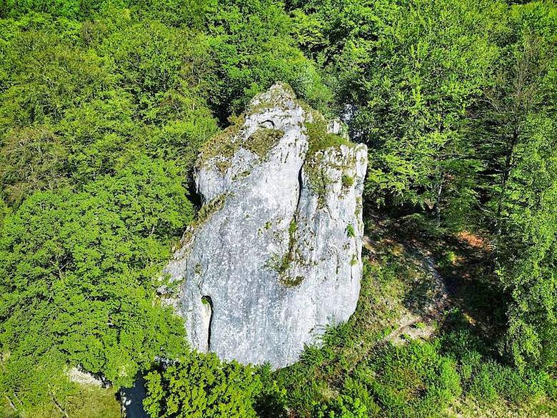 Hohle Fels Luftbild