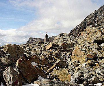 Die Fundstelle von Ötzi auf dem Tisenjoch