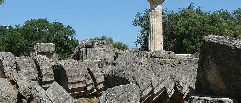 Blick auf den Zeustempel/Olympia