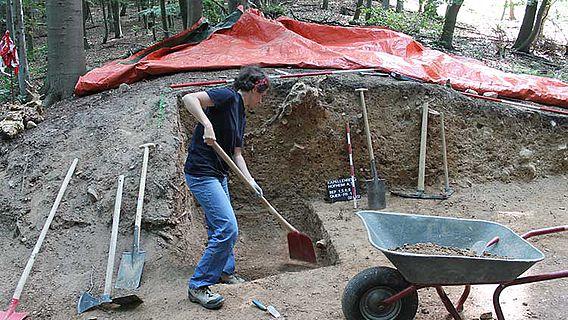Ausgrabung am Kapellenberg