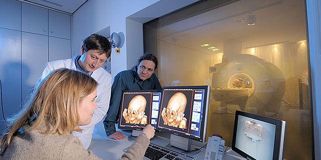 Tomographie einer Mumie aus Peru