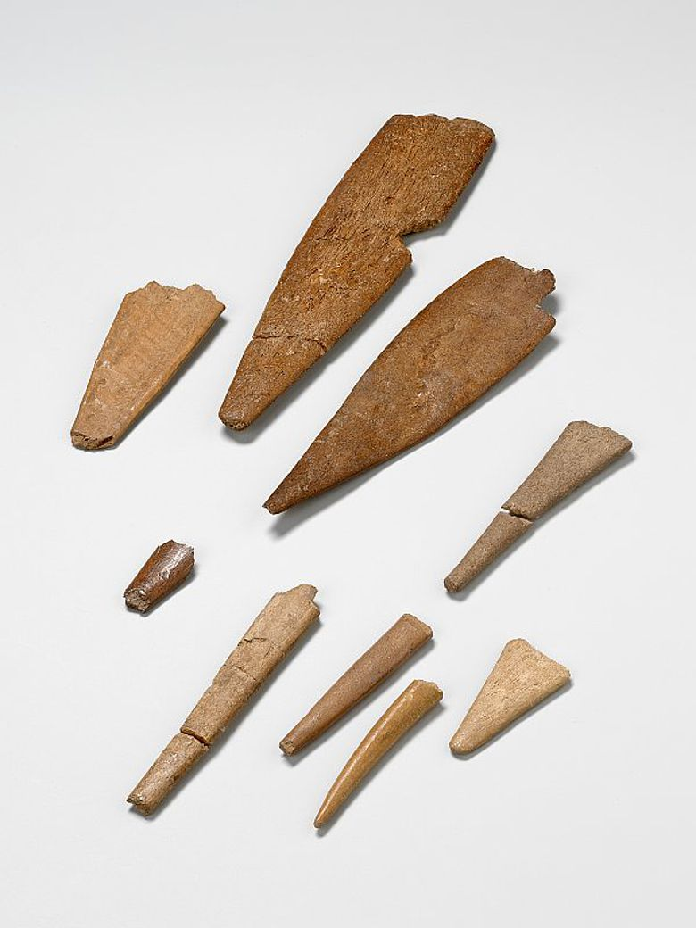 Knochenspitzen aus Mokriška jama