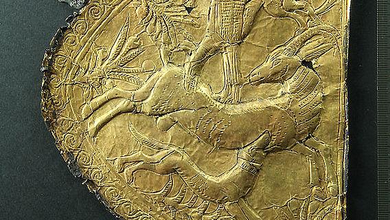 Verziertes Goldblech aus Tutanchamuns Grab