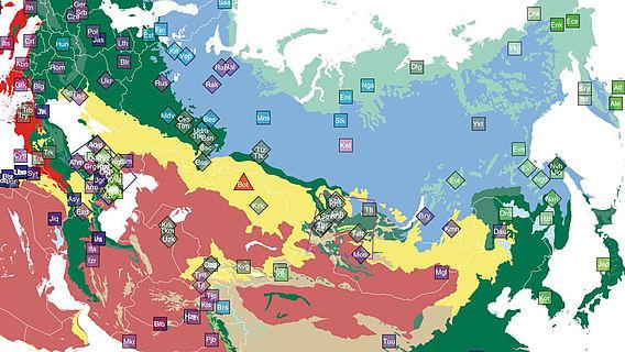 Geografische Verteilung der untersuchten Gruppen